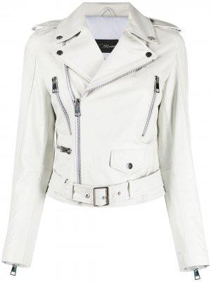 Байкерская куртка Manokhi. Цвет: белый