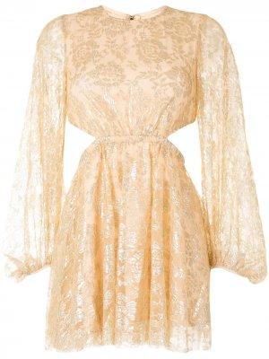 Платье мини Magic Thinking Alice McCall. Цвет: золотистый