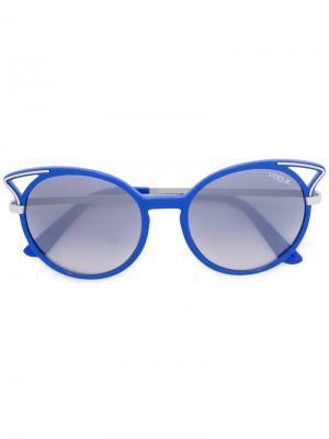 Солнцезащитные очки в круглой оправе Vogue Eyewear. Цвет: синий