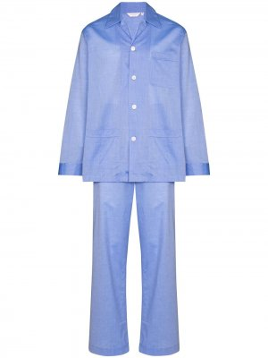 Пижама Classic Derek Rose. Цвет: синий