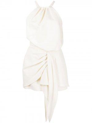 Платье Adriena со сборками Alexis. Цвет: белый