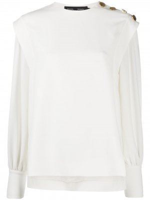 Faux-button detail blouse Proenza Schouler. Цвет: белый