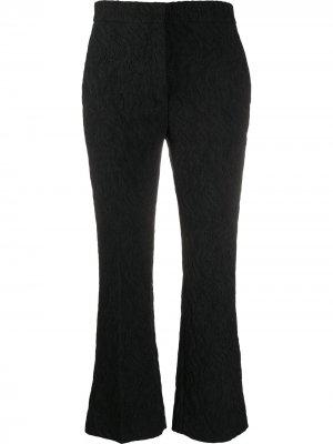 Укороченные расклешенные брюки Rochas. Цвет: черный