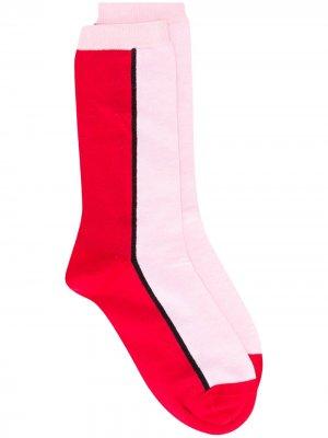 Носки в стиле колор-блок GANNI. Цвет: розовый