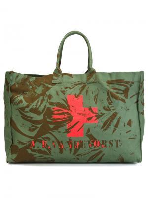 Пляжная сумка We Can Dance A.F.Vandevorst. Цвет: зеленый