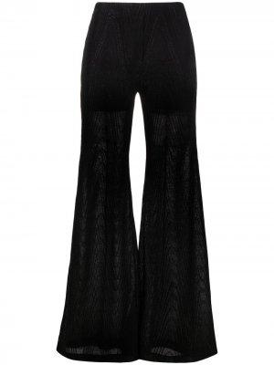 Расклешенные брюки с завышенной талией M Missoni. Цвет: черный
