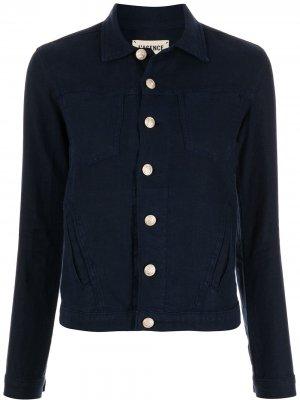 LAgence куртка-рубашка на пуговицах L'Agence. Цвет: синий