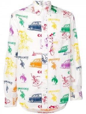 Рубашка Mini Paper Gitman Vintage. Цвет: белый
