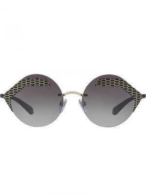 Serpenti sunglasses Bulgari. Цвет: черный
