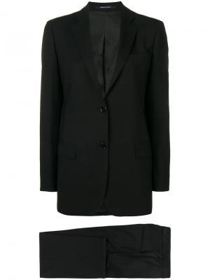 Костюм Lisa с однобортным пиджаком Tagliatore. Цвет: черный