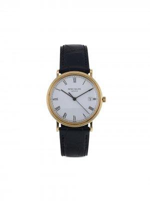 Наручные часы Calatrava 32 мм 1985-го года Patek Philippe. Цвет: белый