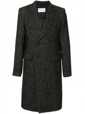 Твидовое пальто Plated Surgical Strateas Carlucci. Цвет: черный