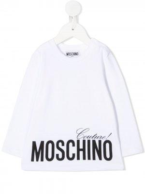 Топ с принтом Moschino Couture! Kids. Цвет: белый