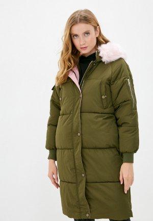 Куртка утепленная Elsi. Цвет: хаки