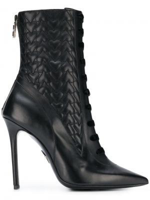 Hearts ankle boots Aperlai. Цвет: черный