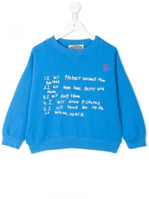 To do list printed sweatshirt Bobo Choses. Цвет: синий