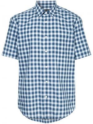 Durban рубашка с короткими рукавами в клетку D'urban. Цвет: синий