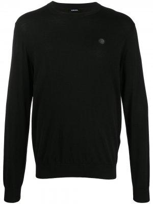 Пуловер с логотипом Mohawk Diesel. Цвет: черный