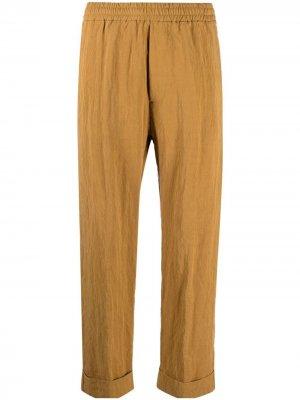 Прямые брюки с эластичным поясом Barena. Цвет: желтый