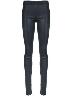 Elasticated waist leggings Drome. Цвет: синий