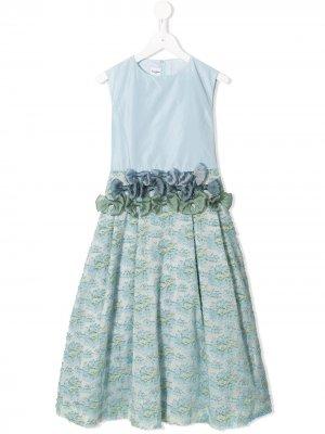 Платье с бантом Familiar. Цвет: синий