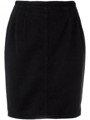 Облегающая мини-юбка Jean Paul Gaultier Pre-Owned. Цвет: синий