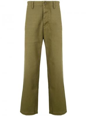 Straight-leg trousers Prps. Цвет: зеленый