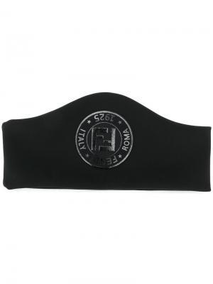 Повязка на голову с логотипом Fendi. Цвет: черный