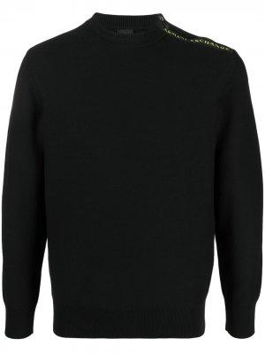 Пуловер с логотипом Armani Exchange. Цвет: черный