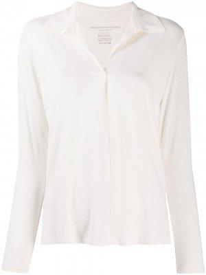 Блузка с заостренным воротником Majestic Filatures. Цвет: нейтральные цвета