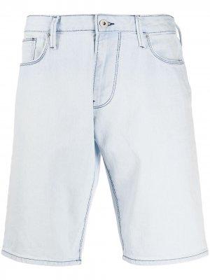 Джинсовые шорты Emporio Armani. Цвет: синий