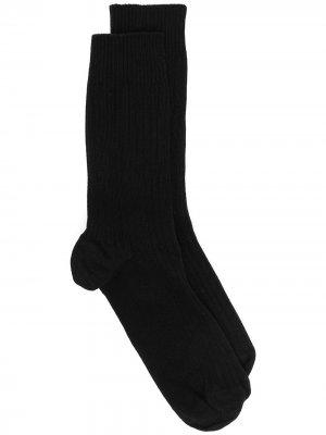 Носки в рубчик Baserange. Цвет: черный