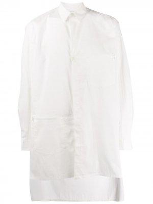 Рубашка оверсайз с асимметричными карманами Y-3. Цвет: белый