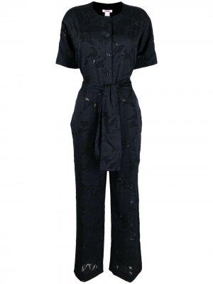 Кружевной комбинезон Cedrat с широкими брюками Eres. Цвет: синий