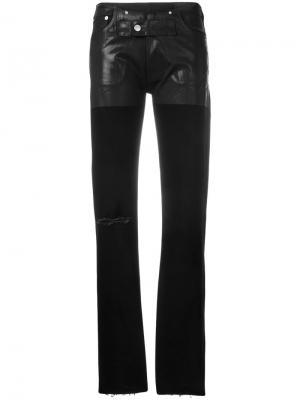 Текстурированные джинсы скинни с необработанными краями 1017 Alyx 9SM. Цвет: черный