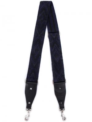 Лакированная лямка для сумки Valentino. Цвет: синий