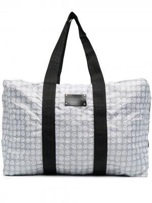 Дорожная сумка с геометричным принтом 10 CORSO COMO. Цвет: серый