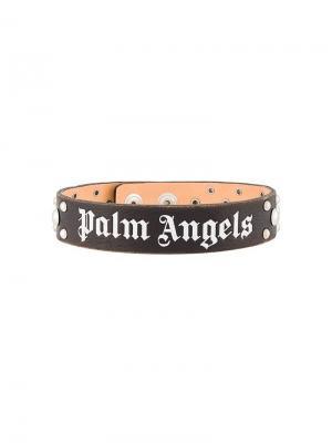 Чокер с принтом логотипа Palm Angels. Цвет: черный