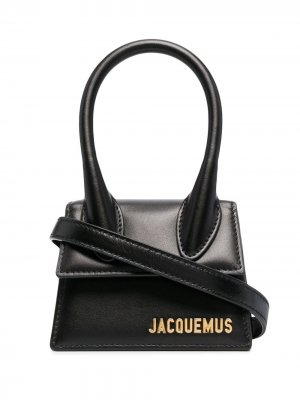 Мини-сумка Le Chiquito с верхней ручкой Jacquemus. Цвет: черный
