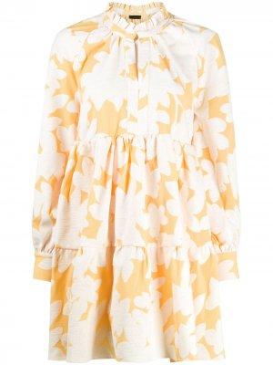 Платье Jasmine с цветочным принтом Stine Goya. Цвет: оранжевый