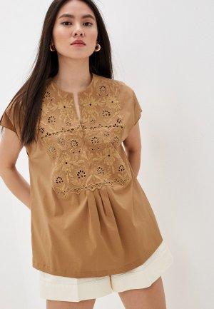 Блуза Seventy. Цвет: коричневый