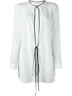 Блузка с контрастной окантовкой Vionnet. Цвет: белый