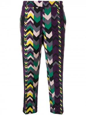 Укороченные брюки с принтом 2000-х годов Missoni Pre-Owned. Цвет: фиолетовый