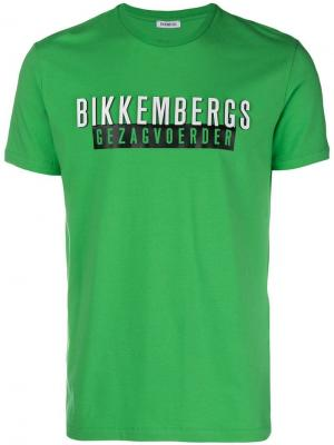 Logo print T-shirt Dirk Bikkembergs. Цвет: зеленый