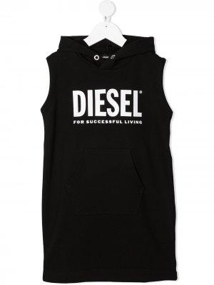 Свитер без рукавов Diesel Kids. Цвет: черный