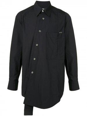 Рубашка асимметричного кроя Wooyoungmi. Цвет: черный