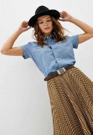Рубашка джинсовая Polo Ralph Lauren. Цвет: голубой