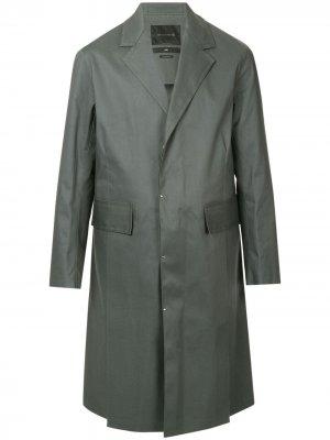 Однобортное пальто Mackintosh 0003. Цвет: серый