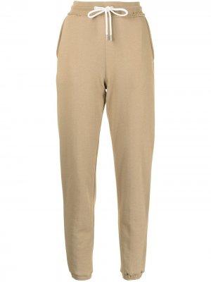 Спортивные брюки с необработанными краями Atm Anthony Thomas Melillo. Цвет: коричневый