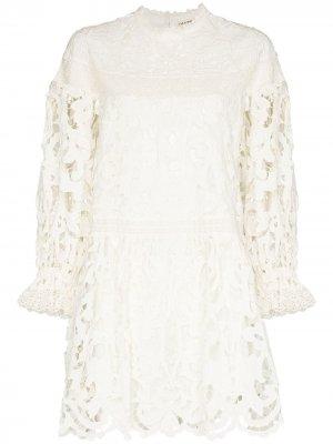 Albertine floral-lace minidress Ulla Johnson. Цвет: белый